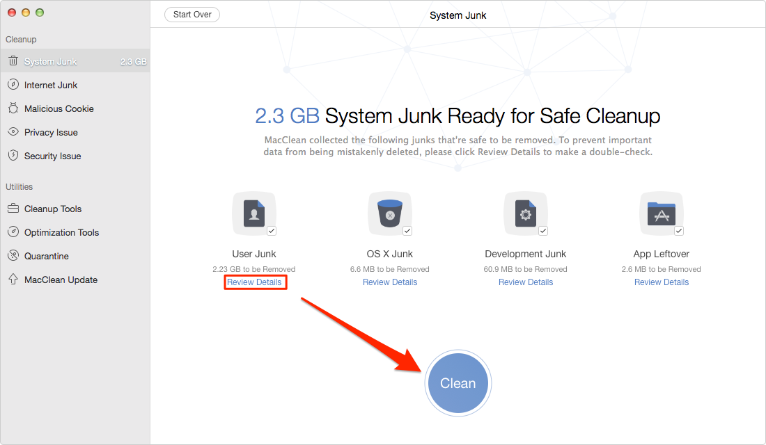 How to Delete Junk Files from Mac – Step 3