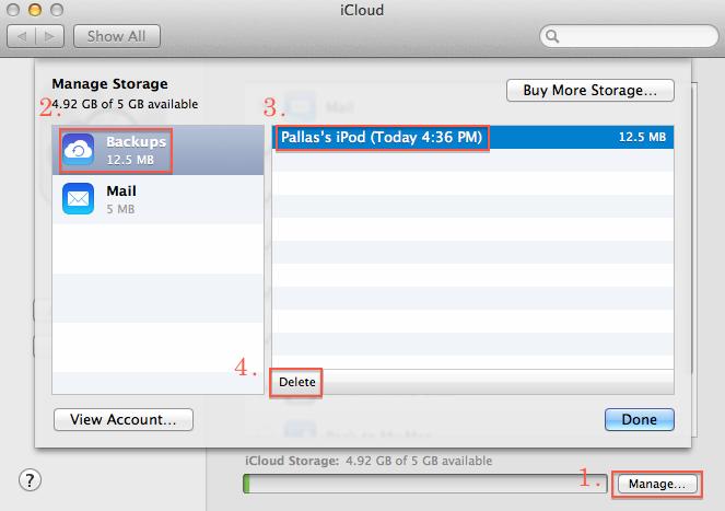 Delete Mac iCloud Backup