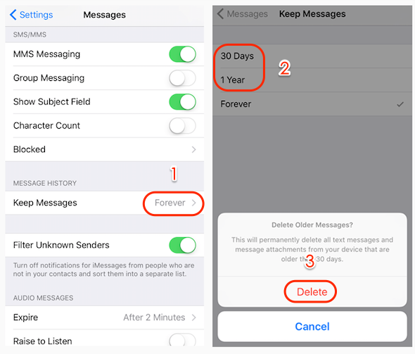 iPhone Erased Text Messages Automatically - Why Messages Disappeared?