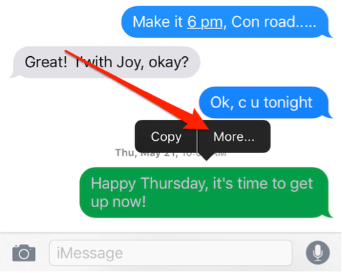 How to Delete Individual Messages on iOS 10/11