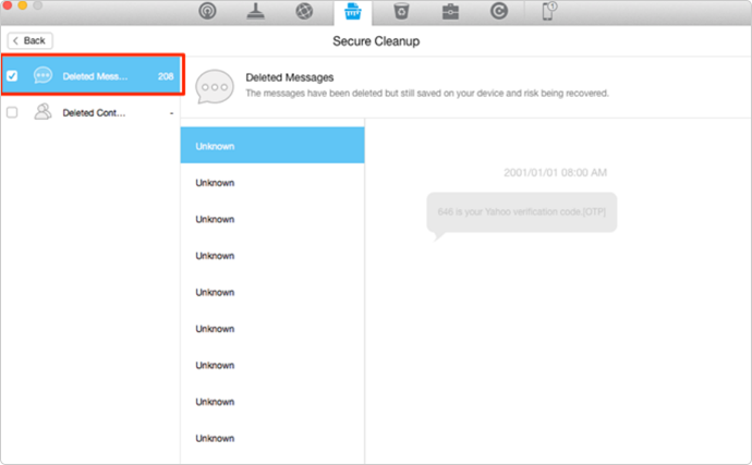 delete individual messages ios 9