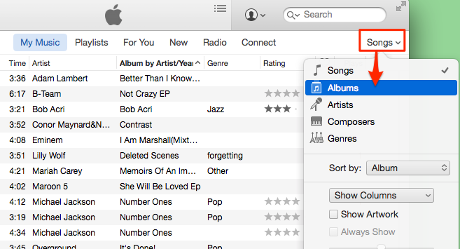 how to put music on iphone 6 with itunes
