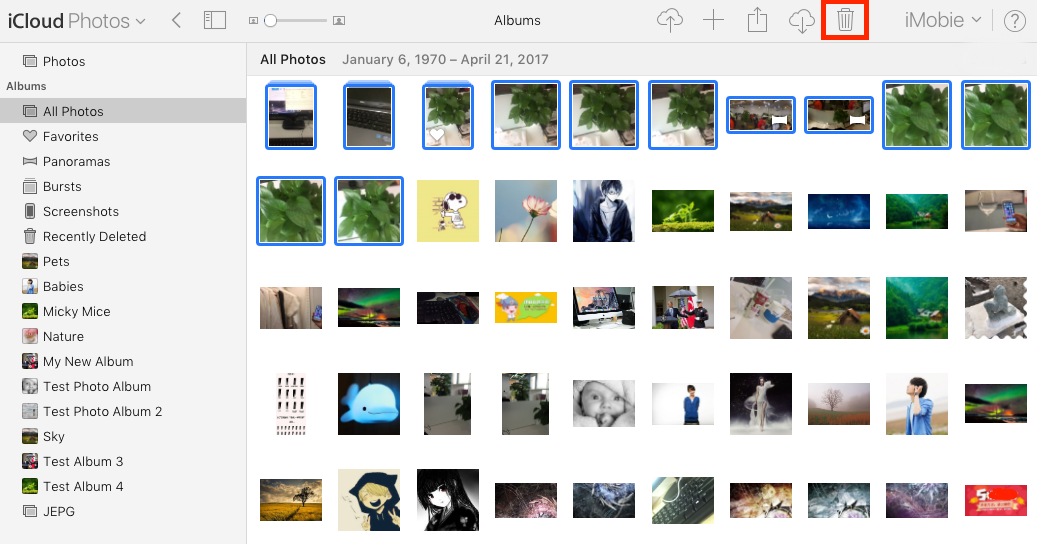 How to Delete Photos in iCloud Photo Library on Web - Step 3