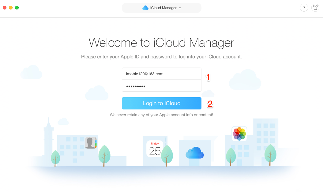 How to Delete All Photos from iCloud with AnyTrans - Step 2