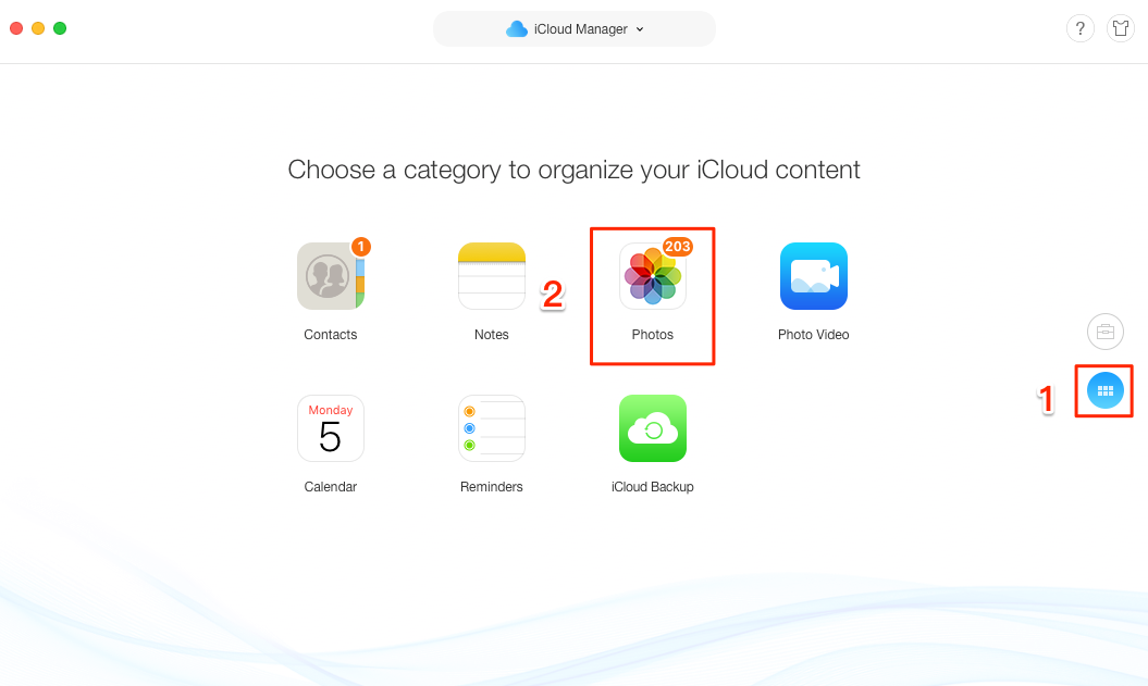 How to Delete All Photos from iCloud with AnyTrans - Step 3