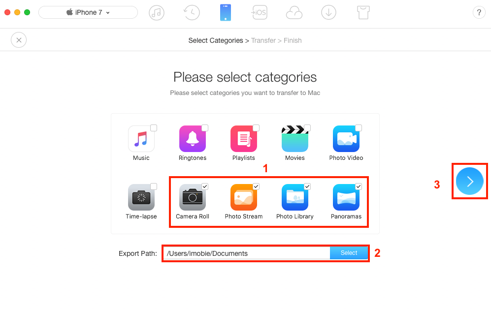 How to Delete Photos from iPhone but Not iCloud - Step 2
