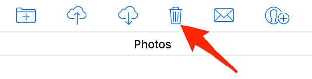 Delete photos on iCloud