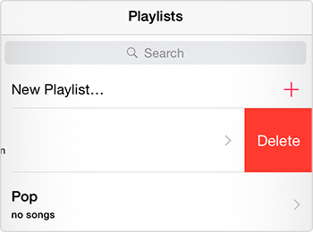 Delete a Playlist on iPhone from Music App