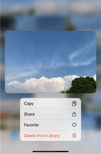 Delete One Photo from Photo Library