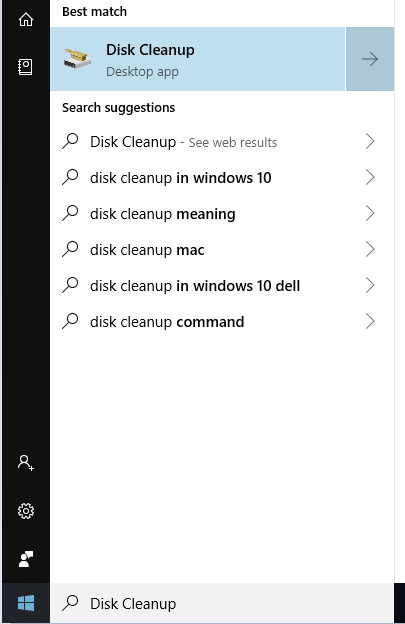 How to Delete Temp Files Windows 10 with Disk Cleanup - Launch Disk Cleanup