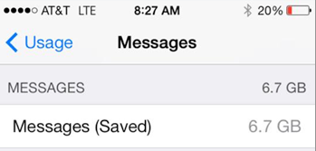 How do i delete saved messages