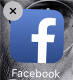 Delete and Then Install the Facebook App