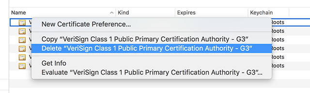 Delete Certificates to Fix the Server Identity Issue with iTunes
