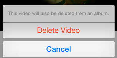 How to Delete Videos from iPhone via Photos App