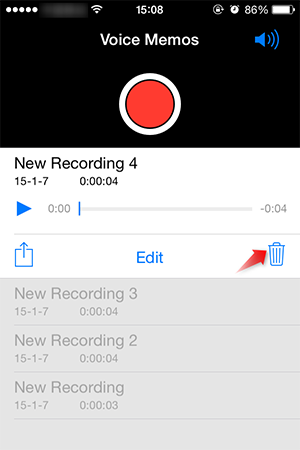 iphone voice memo how to delete voice memos from iphone 6 6s se 5 5s 5c 4s 12445