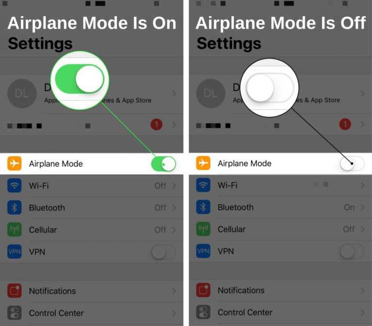 Disable Airplane Mode