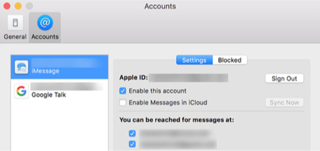 Disable iMessage on Mac