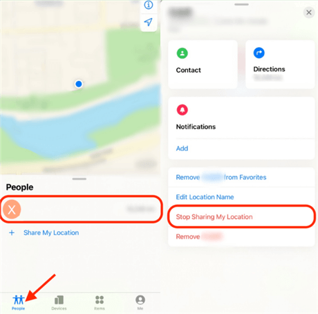 Stop Sharing Your Location with a Particular Person
