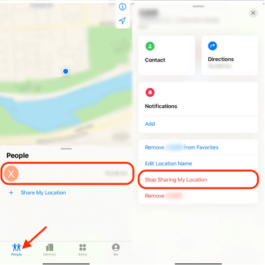 Disable Location-Sharing for a Particular Person