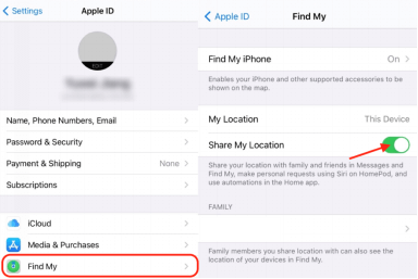 """Disable Location-Sharing for the """"Find My"""" App"""