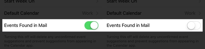 How to Disable Suggested Event in Calendar on iPhone/iPad