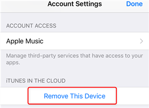 Remove your Device in iOS