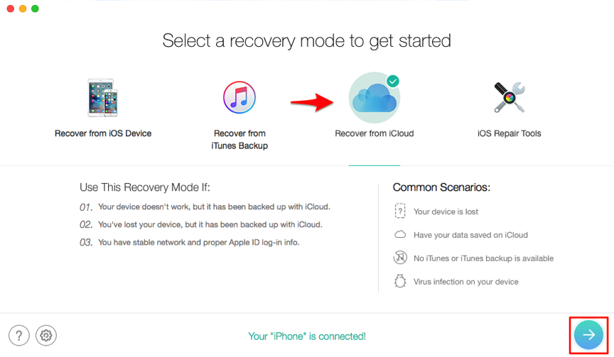 How to Recover Only Contacts from iCloud Backup – Step 2