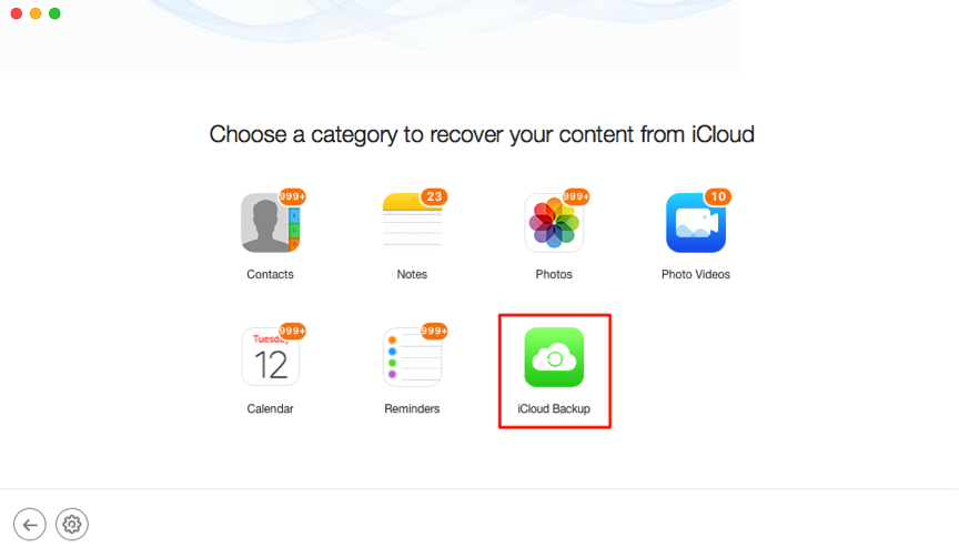 How to Recover Only Contacts from iCloud Backup – Step 3