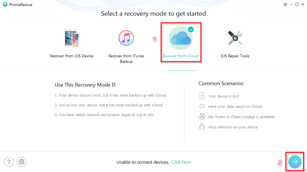 How to Recover Deleted Photos from iCloud - Step 1