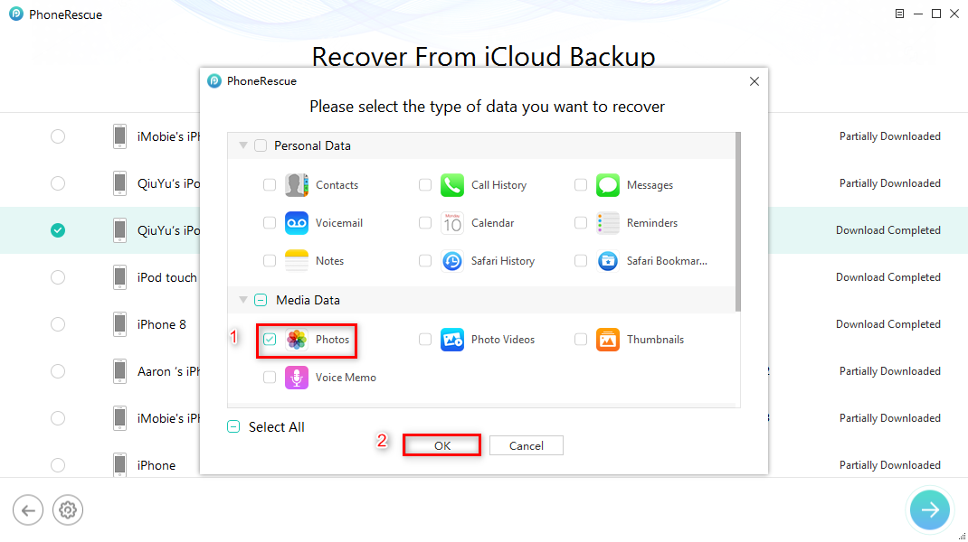 How to Recover Deleted Photos from iCloud – Step 3