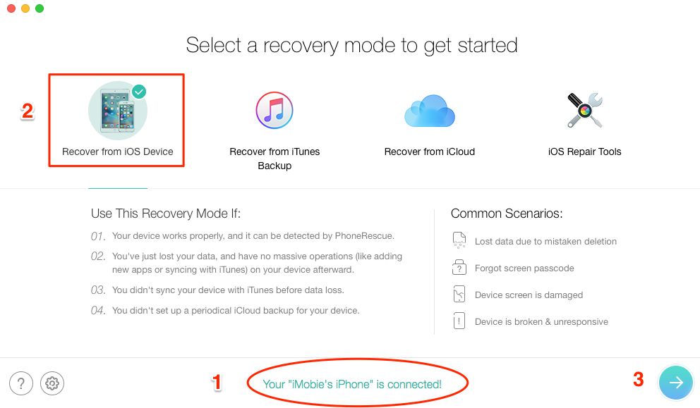 Fix If iCloud Doesn't Backup Deleted Text Messages - Step 2