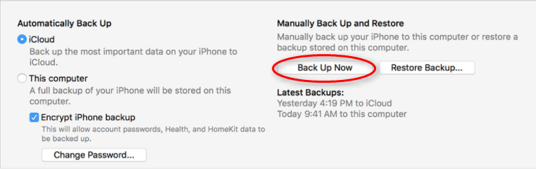 How to Backup Text Messages/iMessages to Computer via iTunes