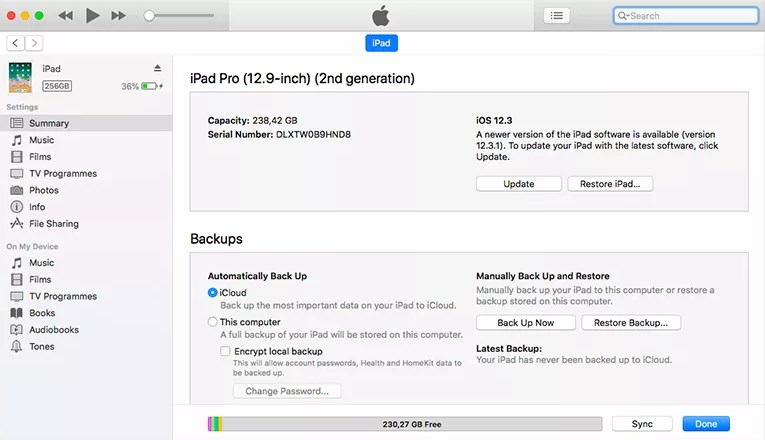 Downgrade from iOS 13 to iOS 12 - Step 4