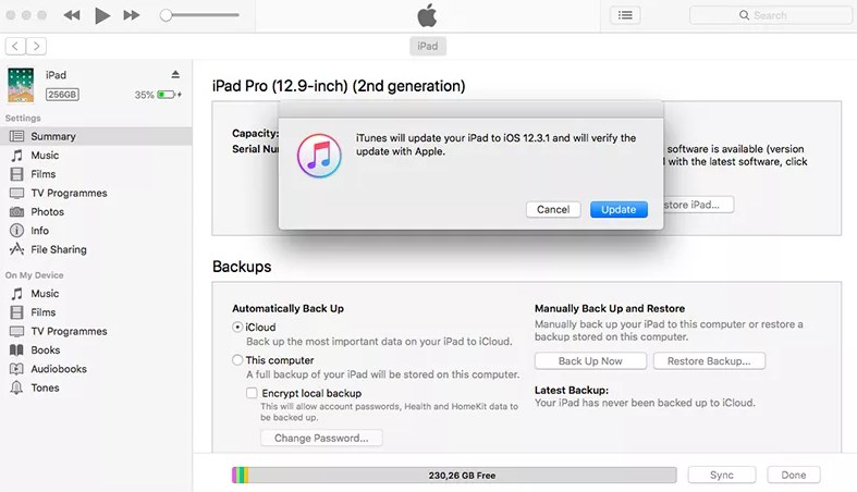 Downgrade from iOS 13 to iOS 12 - Step 5