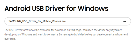 Download Android USB Driver on Phone