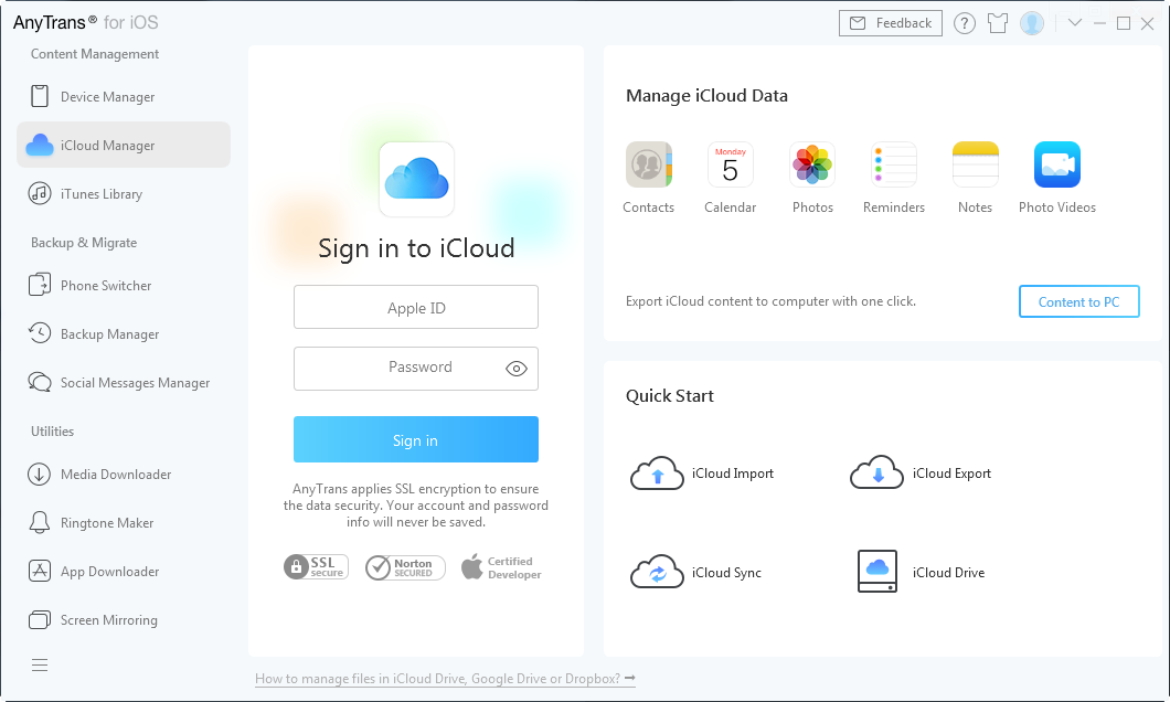 How to Get Contacts from iCloud with AnyTrans