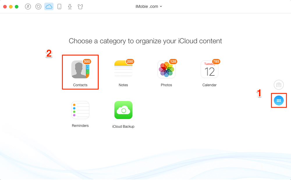 How to Download Contacts from iCloud with AnyTrans – Step 2