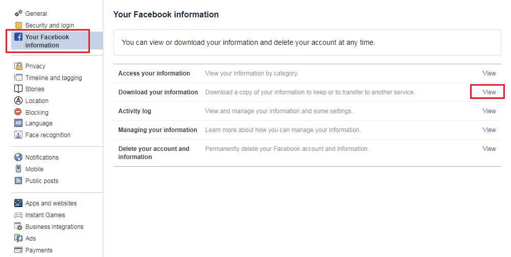 Download All Facebook Photos on Desktop - Step 2