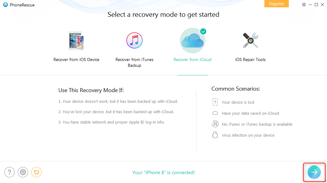 How to Download iCloud Backup to iPhone – Step 1