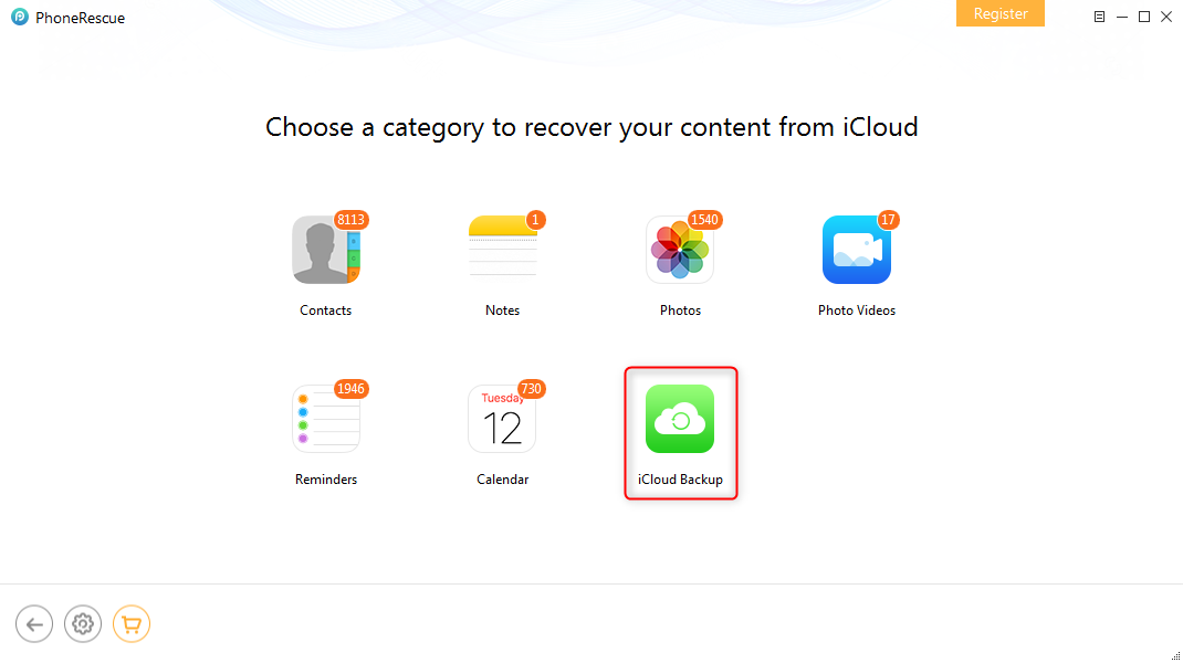 How to Download iCloud Backup to iPhone – Step 2