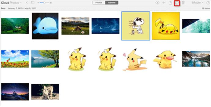 Download iCloud Photos to PC via iCloud.com