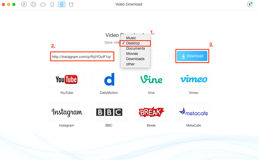 How to Download Instagram Videos to Computer – Step 2