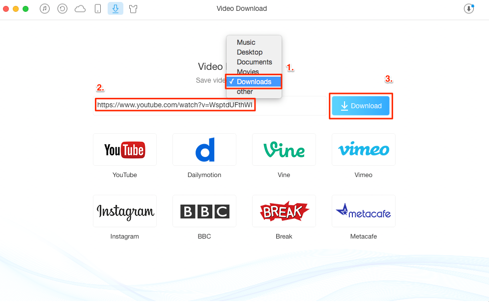 How to Download MKV Videos with AnyTrans - Step 2
