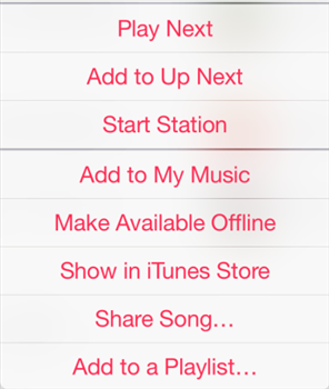 Make selected tracks available offline in Apple Music on iPhone