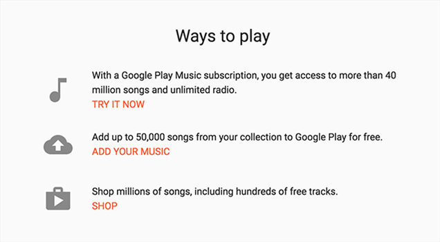 Add your music files to Google Play Music