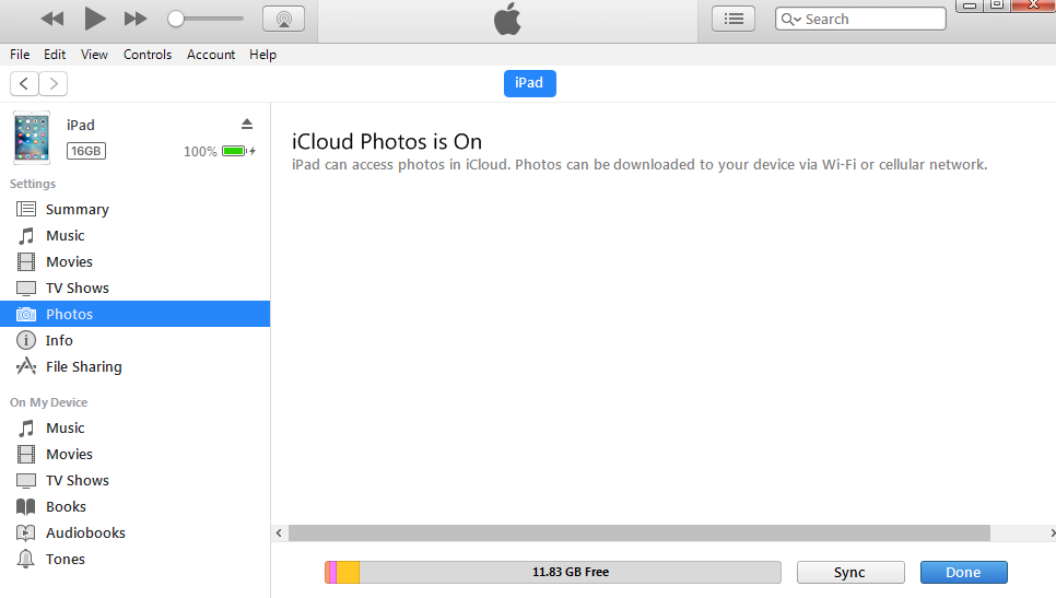 iTunes Can't Sync If iCloud Photo Library Is On