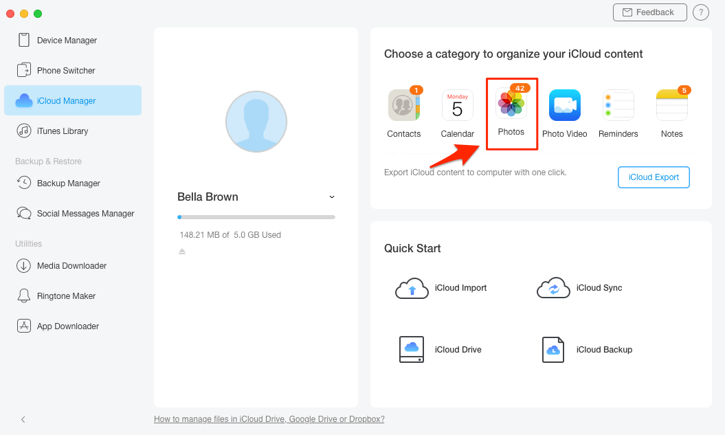 Download Videos from iCloud Photo Library - Step 3