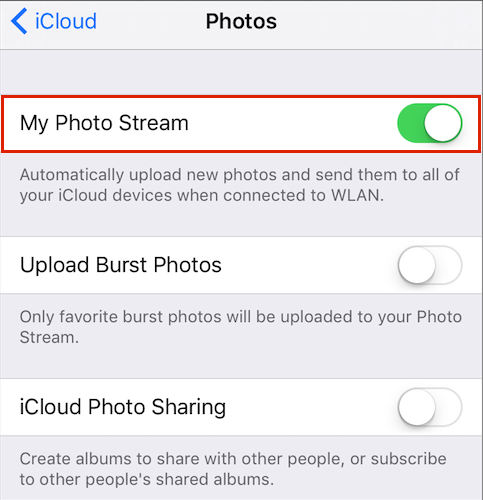Access iCloud Photos on iPhone