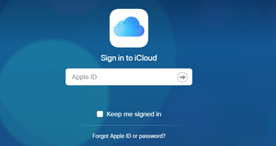 How to Download Photos from iCloud to New iPhone via iCloud.com - Step 1