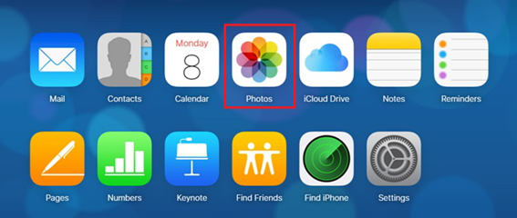 How to Download Photos from iCloud to New iPhone via iCloud.com - Step 2